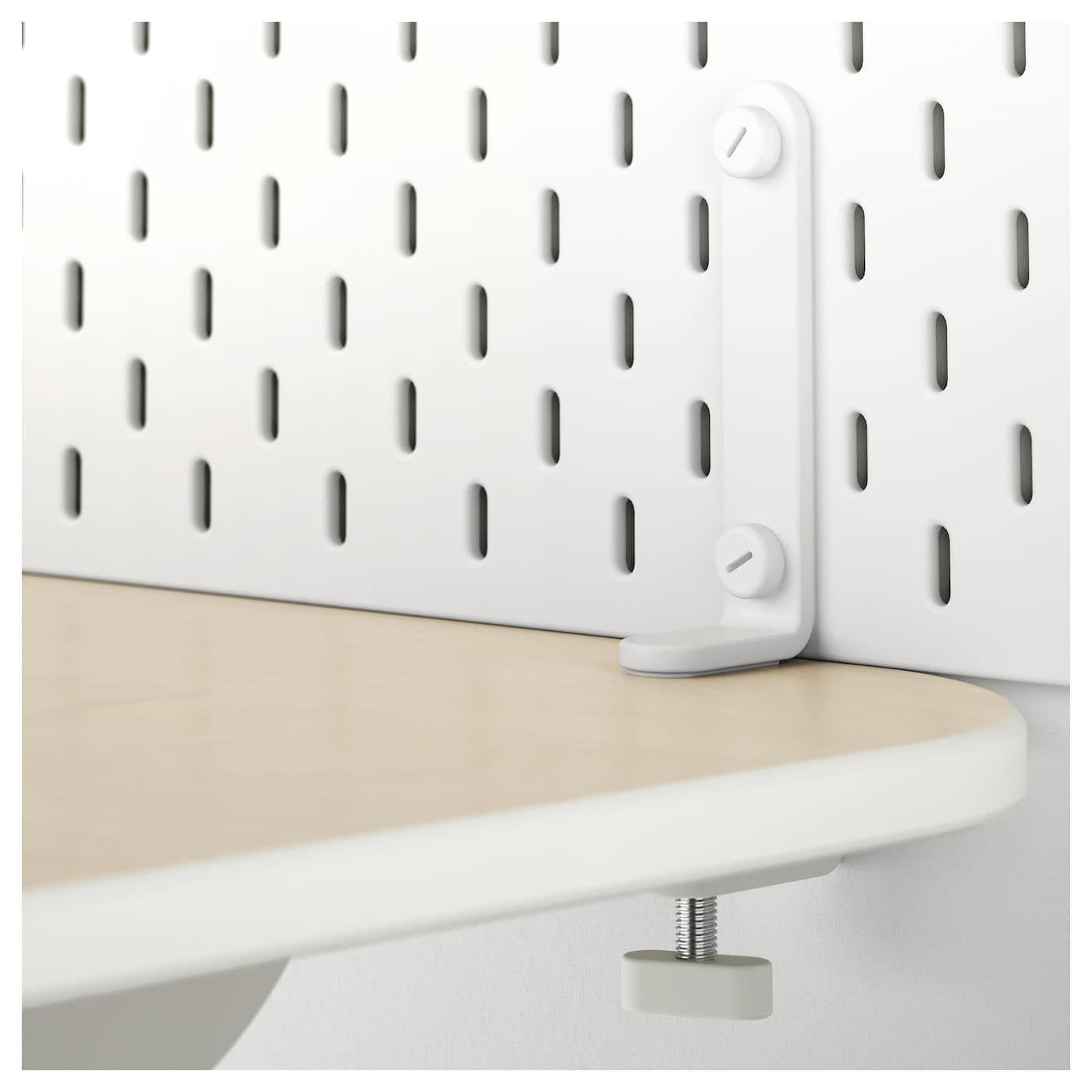 Skadis Befestigungsbeschlag Weiss Schreibtischplatte Ikea Skadis Beschlage