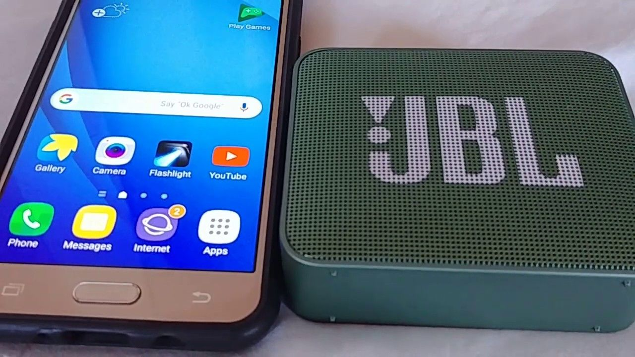 How to pair JBL GO 2 speaker to Samsung J5 android phone