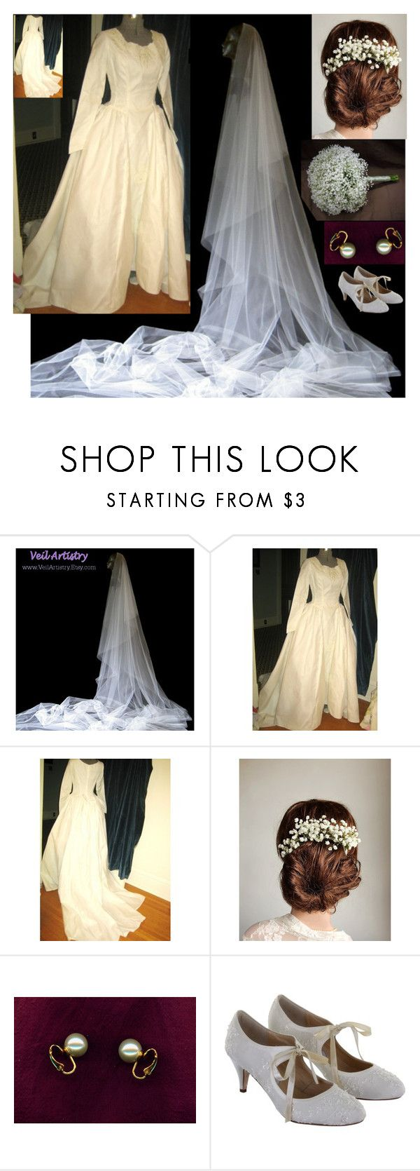 """""""Vintage Royal Wedding Dress"""" by dezaval ❤ liked on Polyvore featuring Rainbow Club and vintage"""