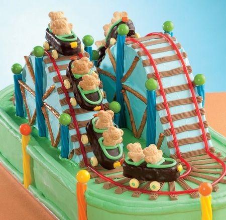 Cake Ideas Roller Coaster Theme Roller Coaster Cake Summer Cakes Themed Cakes