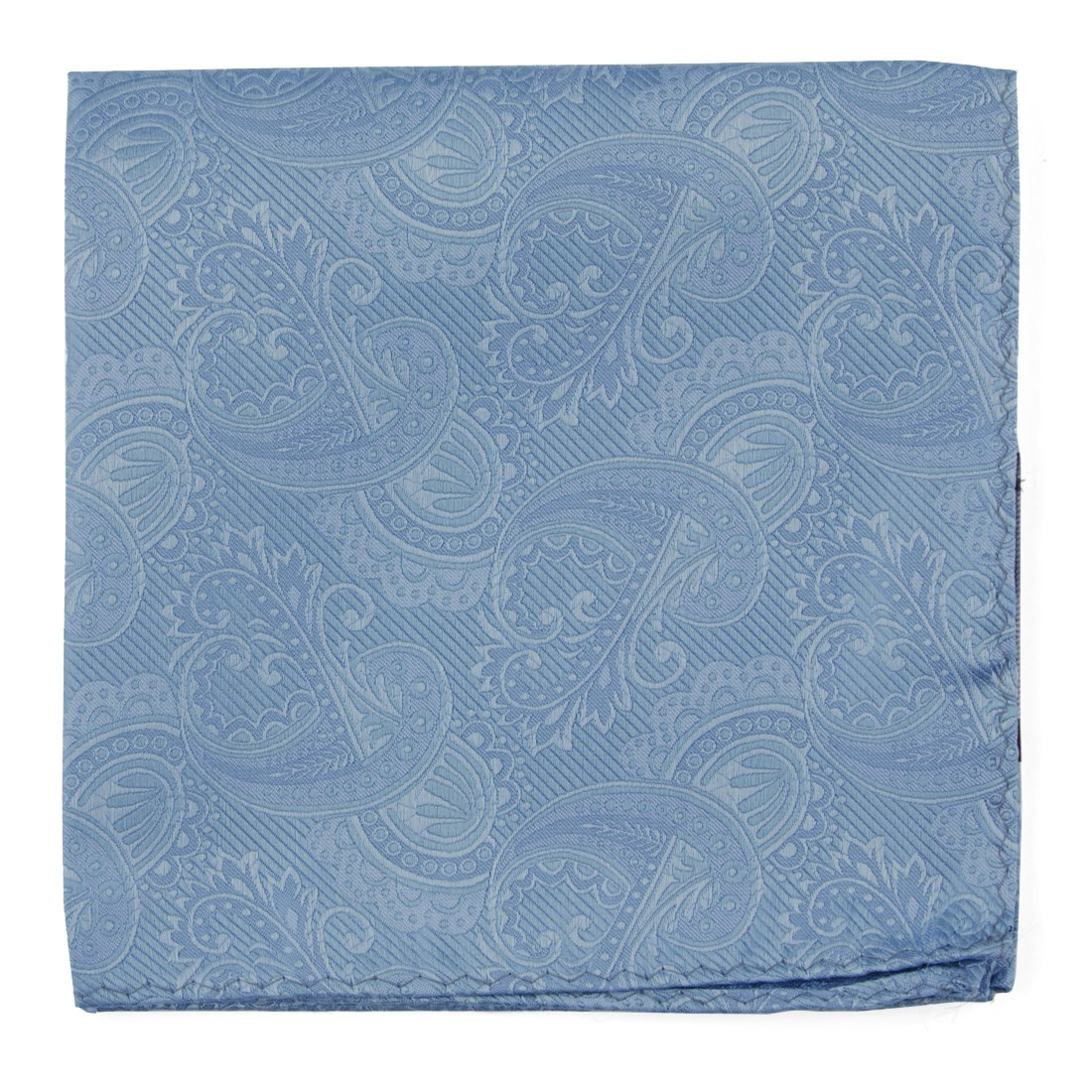 c8122810ed9a Steel Blue Twill Paisley Pocket Square in 2019 | Products | Pocket ...