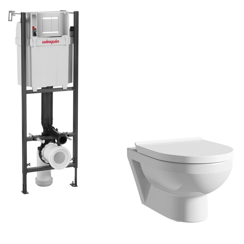 Duravit Durastyle Basic Rimless Wall Hung Toilet With Soft Close