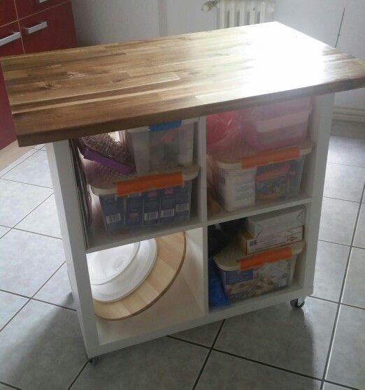 Ikea hack!vom kallax zum Küchenwagen!i Love it! | backen und ... | {Küchenwagen ikea 33}