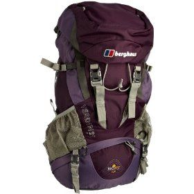 Berghaus Verden Rucksack - Amethyst.  $157.92            Features:Volume: 60 + 10Weight: (approx) 2.16 kg / 4.8 lbDimensions: (H) 77cm, (W) 36cm, (D) 31cmSuitable for: Hiking and trekkingHydration pack compatibleZipped entrance to main compartment and front pockets, side expansion pockets (5L capacity each), and draw cord bivi c...