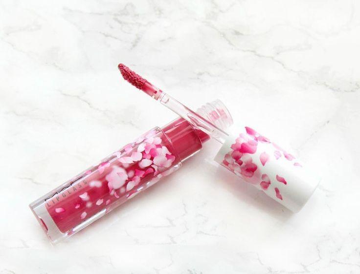 Cherry mochi lipglass from the mac boom boom bloom