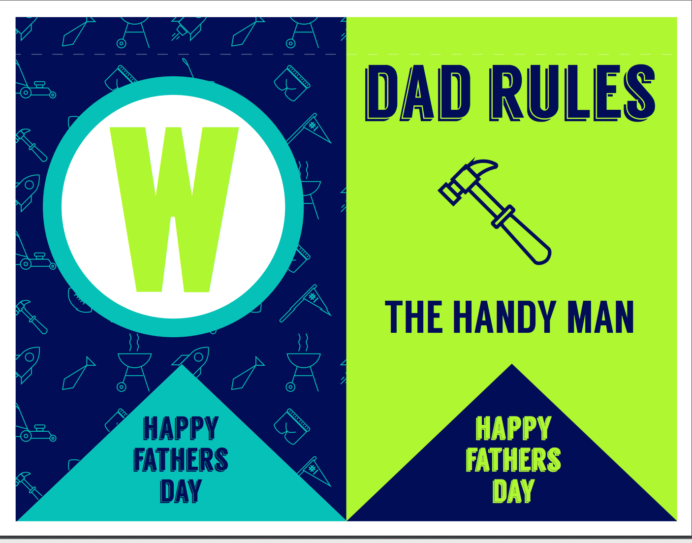 Free Printables Father S Day Dad Rules Banner Napkin