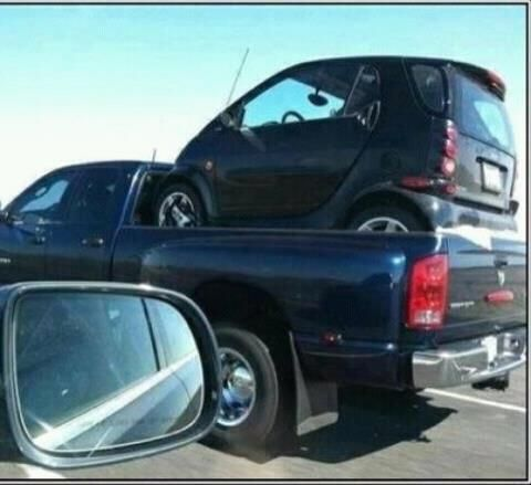 Smart Car In Pickup Truck Bed