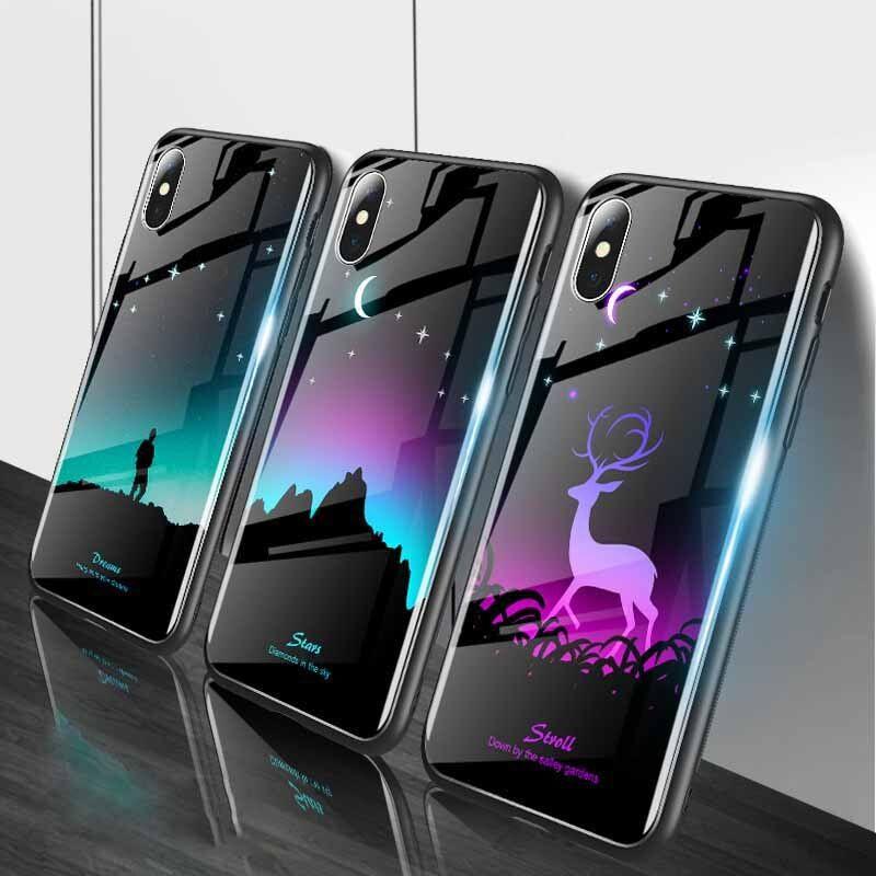 2020 的 luminous tempered glass case for iphone xr xs max x