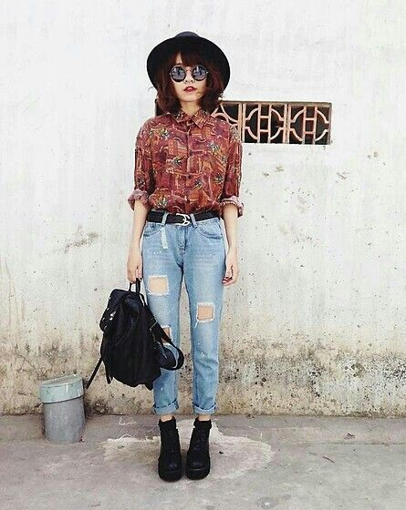 Hipster Hipster Outfits Fashion Retro Fashion