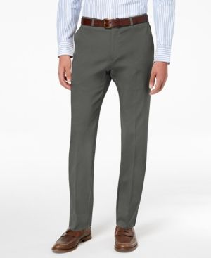 8b11df7307e318 Tommy Hilfiger Men's Modern-Fit Th Flex Stretch Comfort Dress Pants - Gray  36x30