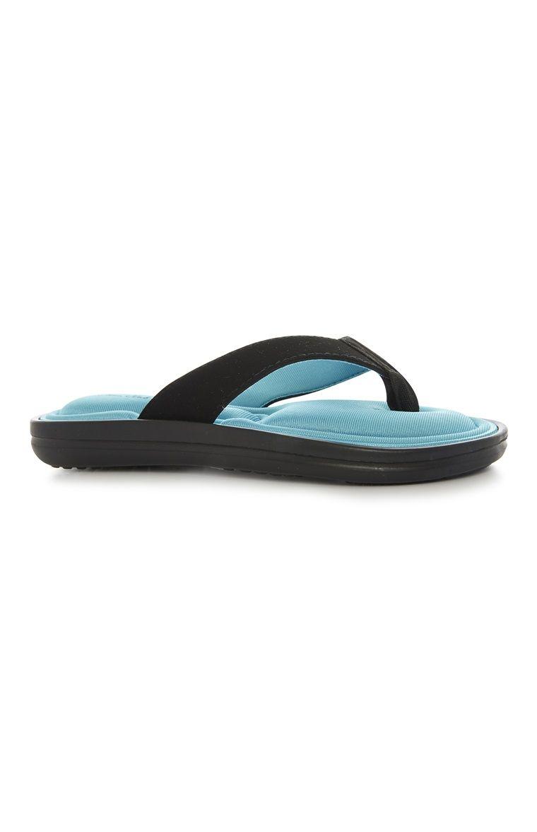 Blue Memory Foam Flip Flop