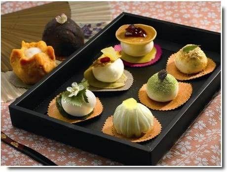 wagashi finomított édességek Japánban