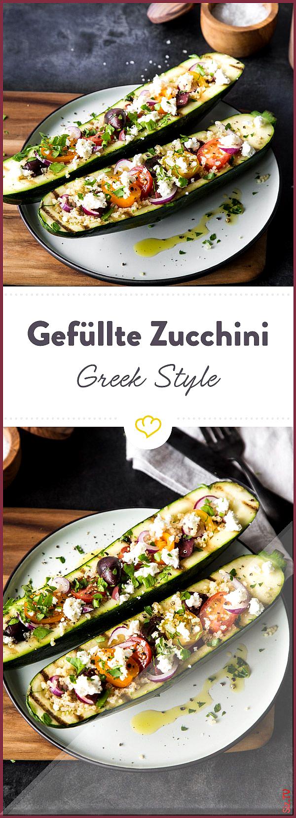 Gef llte Zucchini mit Quinoa Greek Style Gef llte Zucchini mit Quinoa Greek Style Springlane springl...