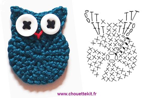 Crochet Owl chart by Chouette Kit.