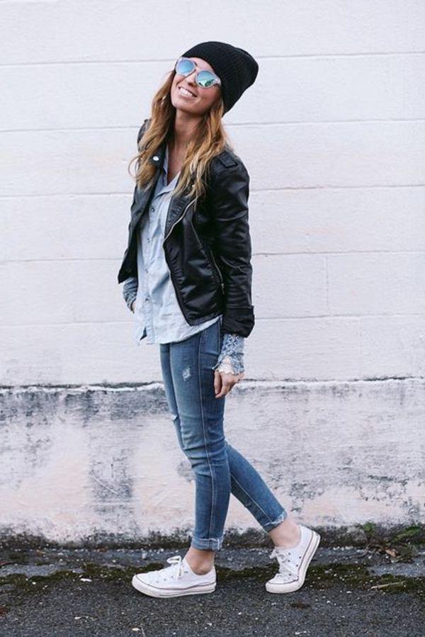 La veste en cuir - 89 idées comment la porter - Archzine.fr ... e974c1859a2
