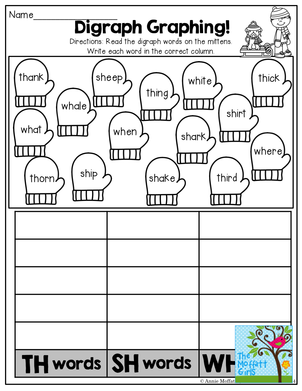 Digraph Graphing And Tons Of Other Fun Printables