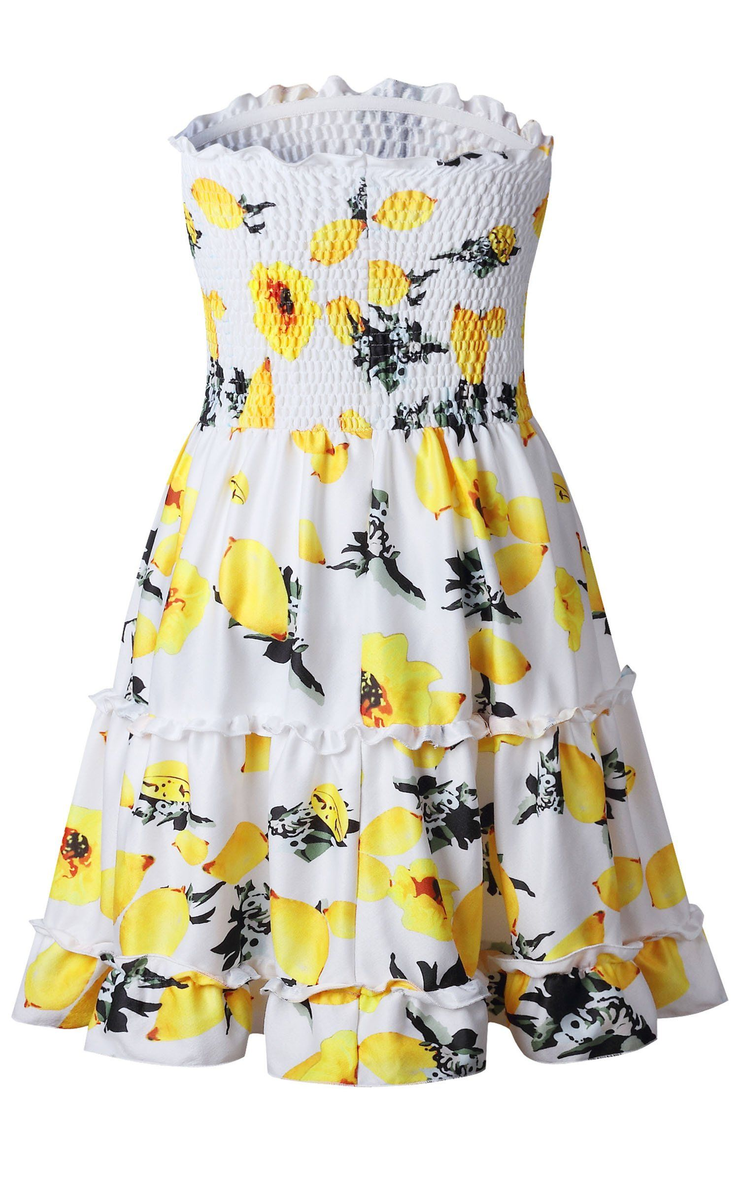 6f3c4d41e272 Angashion Womens Floral Strapless Pleated Flowy Skater Mini Tube Dress ***  For more information, visit image link. (This is an affiliate link) # ...