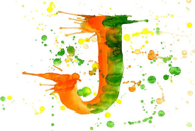 Quiz! Name the Countries Containing the Letter 'J' | Mental Floss |  Watercolor lettering, Letter j, Painted letters