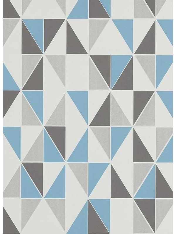 Papier Peint Triangles Bleu Scandinave Erismann Decoration