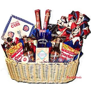 Chicago Cubs baseball theme gift basket!