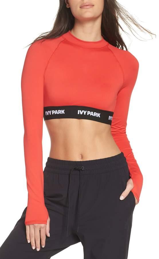 e610184e54f3b Ivy Park R) Logo Tape Open Back Crop Top