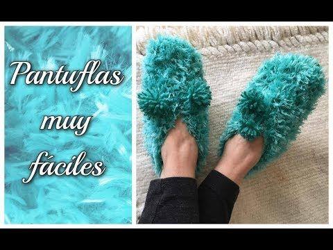 Con sólo dos rectángulos, y un material bien bonito, podemos hacer estas pantuflas soñadas!!!