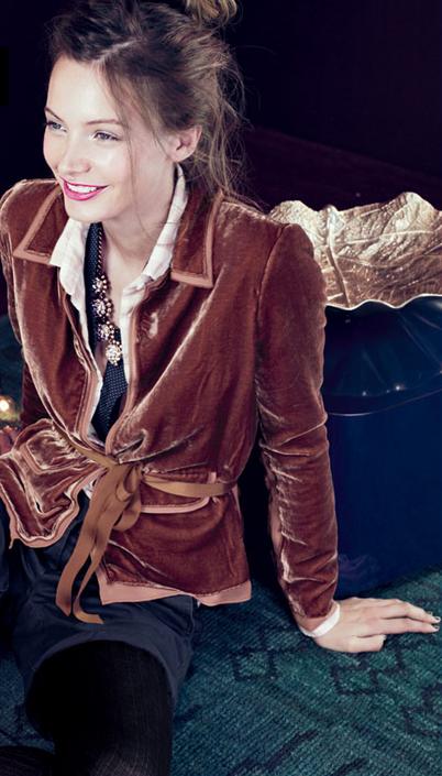 d05b14e08495 J Crew velvet blazer (very Hugh Hefner smoking jacket but I like it ...