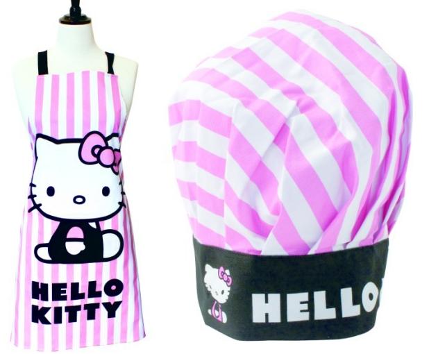Hello Kitty Novelty Hat and Apron