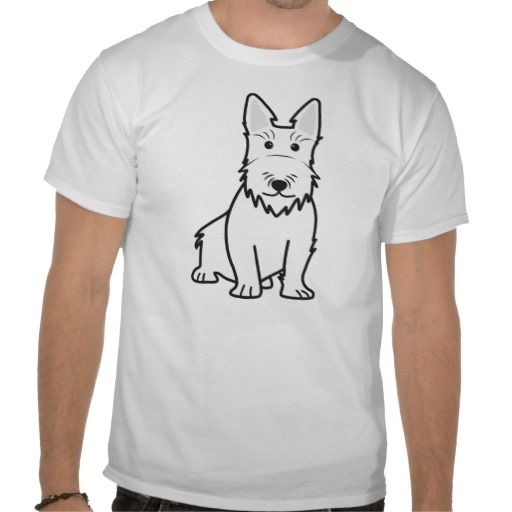 Scottish Terrier Dog Cartoon T-shirt