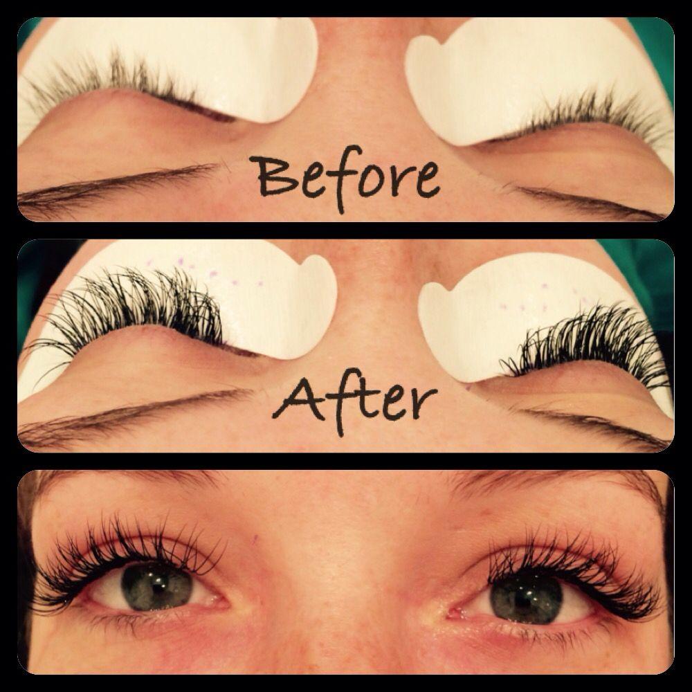 Semi Permanent Individually Adhered Synthetic Eyelash Extensions