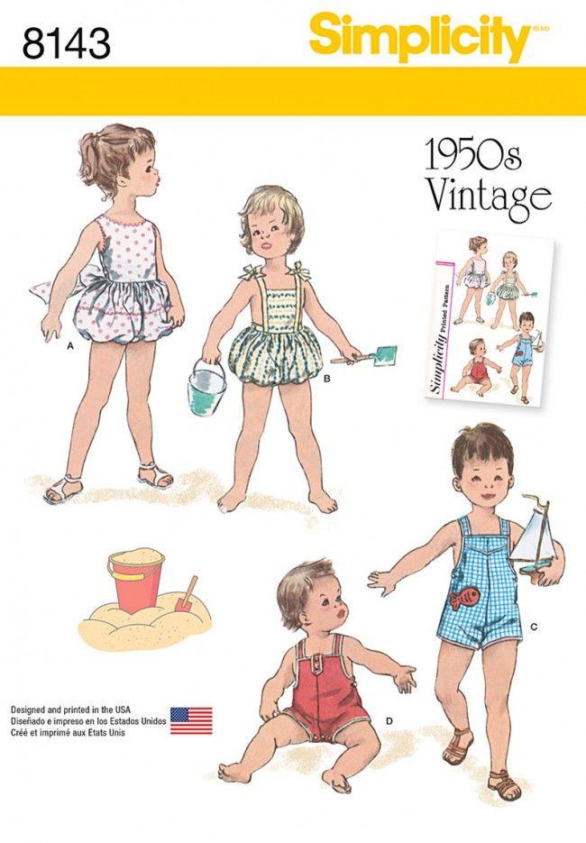 Simplicity - 8143 Vintage romper | Naaipatronen.nl | zelfmaakmode ...