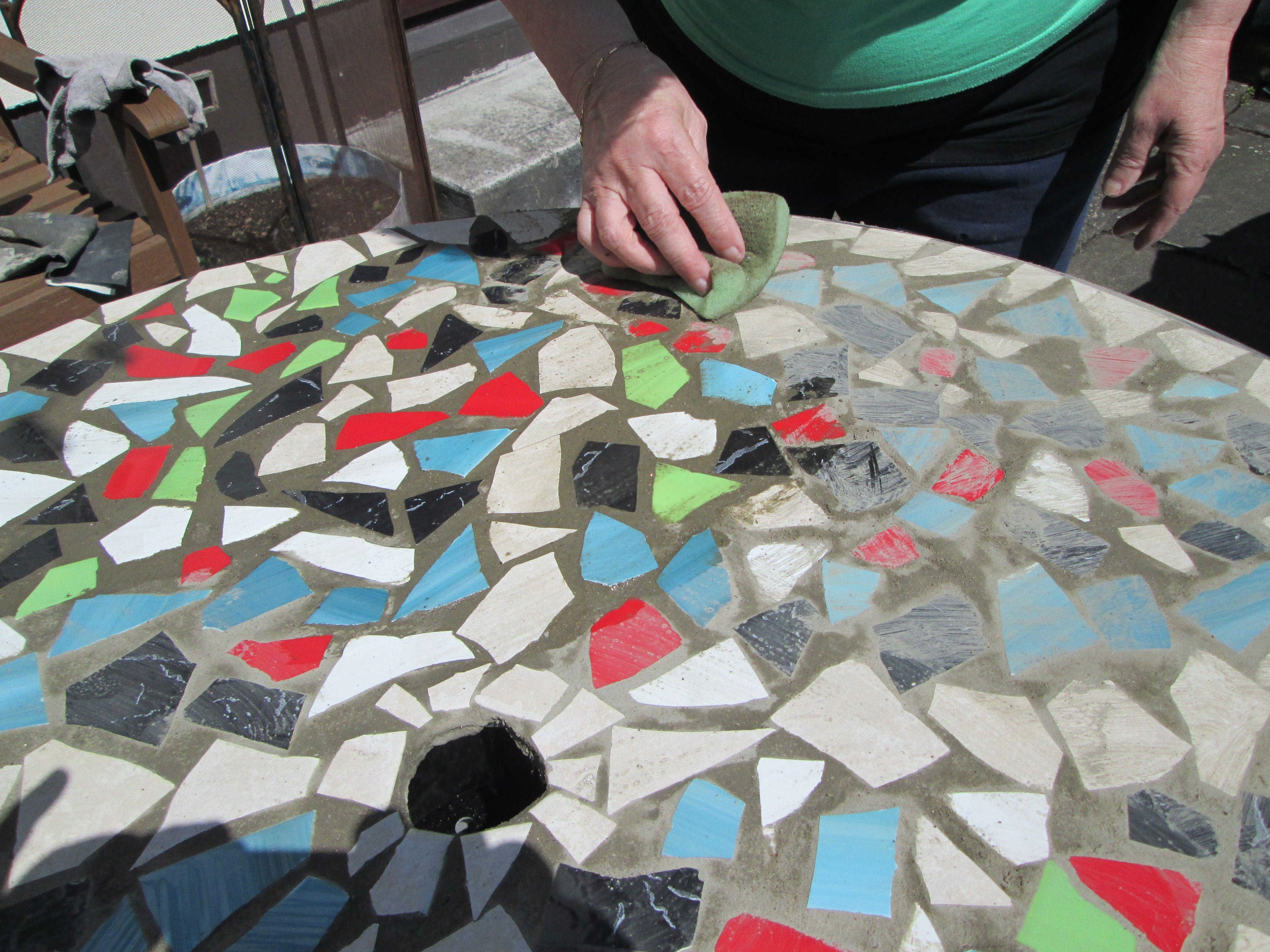 Create a mosaictile tabletop hgtv the 25 best mosaic table tops how to design mosaic table top with ceramic tiles mosaics dailygadgetfo Choice Image