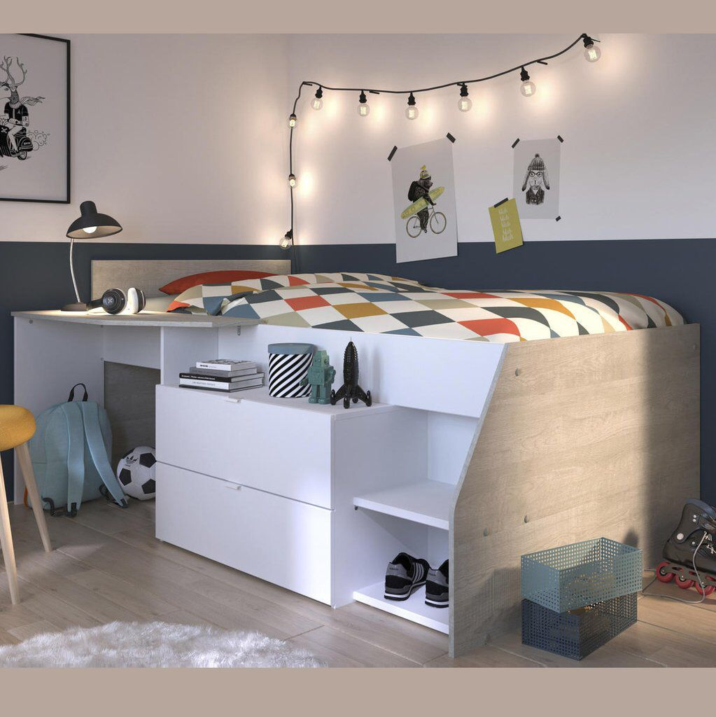The Parisot Milky Midsleeper Cabin Bed Lits Cabine Lit Combine Meuble Chambre A Coucher