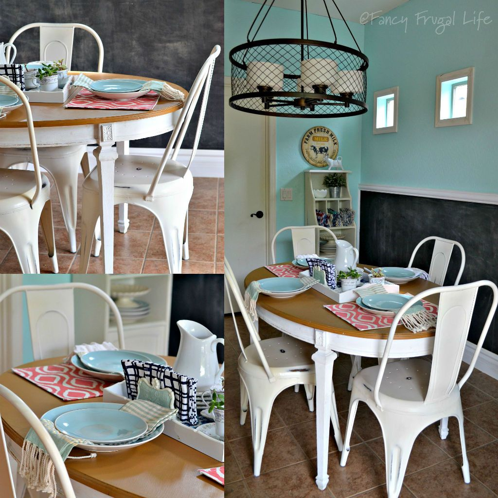 White Metal Farmhouse Style Chairs For The Kitchen Farmhouse