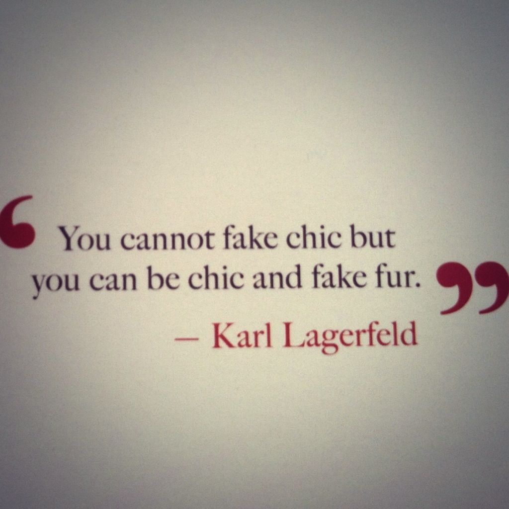 Fashionable Words of Wisdom