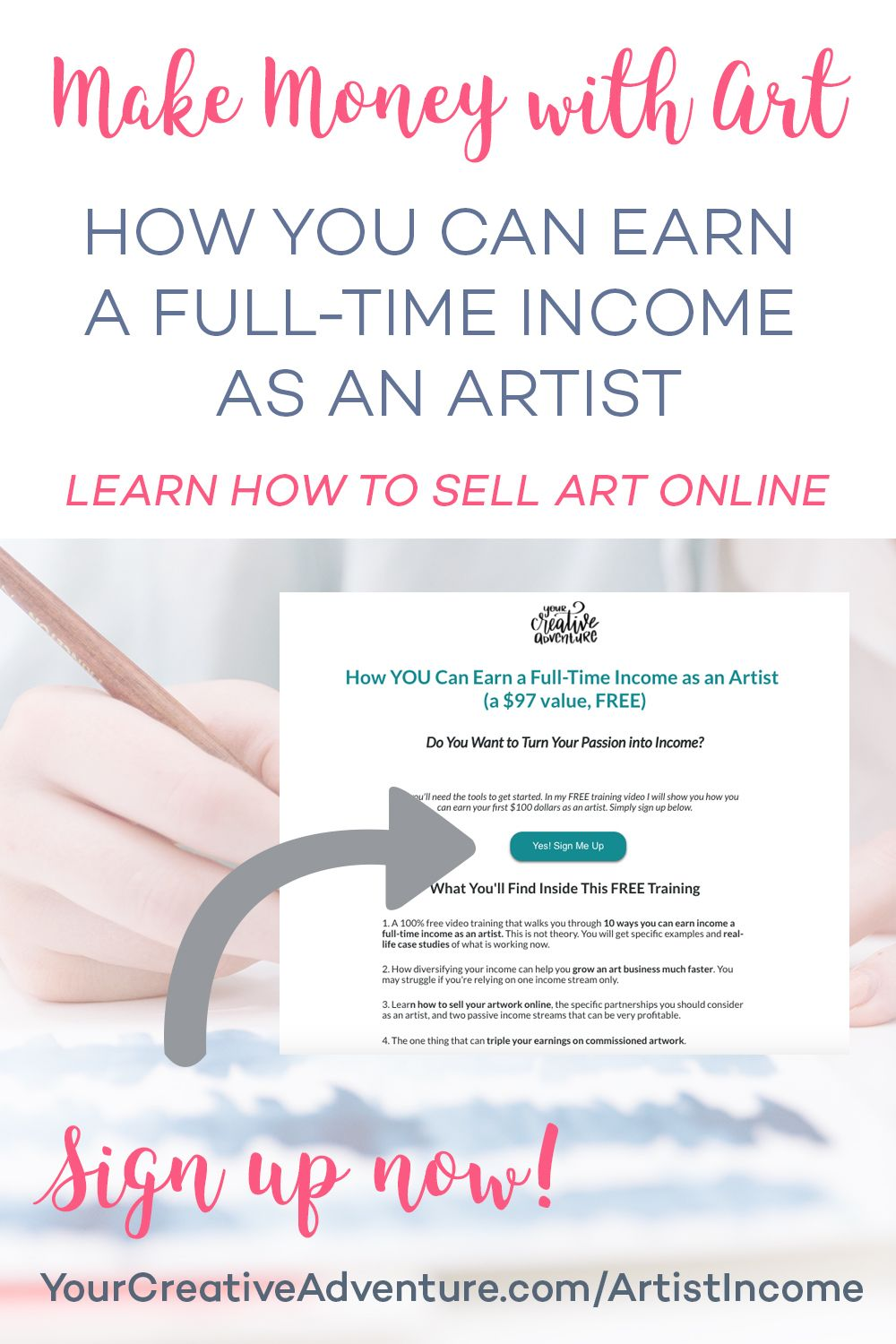 How You Can Earn A Full Time Income As An Artist Selling Art Online Art Business Selling Art