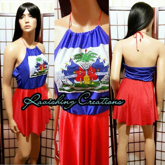 Haitian Flag Dress Flag Day Outfit Carnival By Ravishingcreations