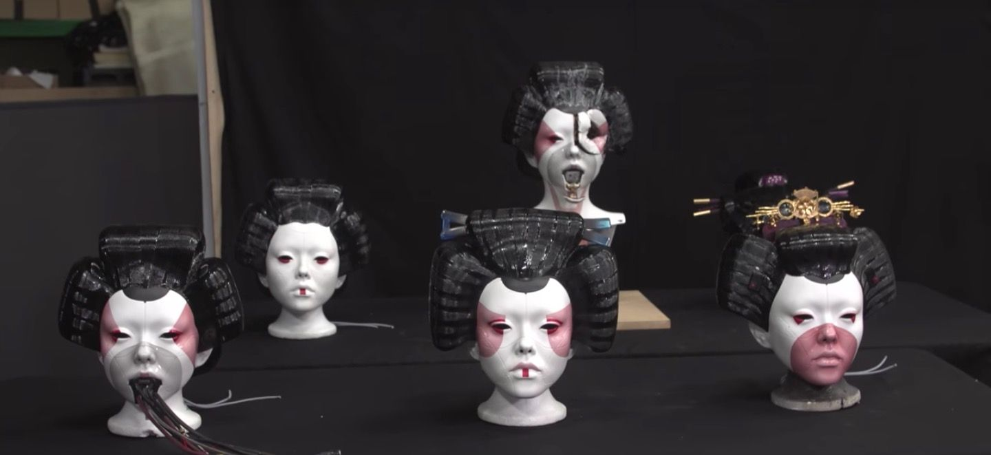 Ghost In The Shell Geisha Masks Ghost In The Shell Weta Workshop Ghost