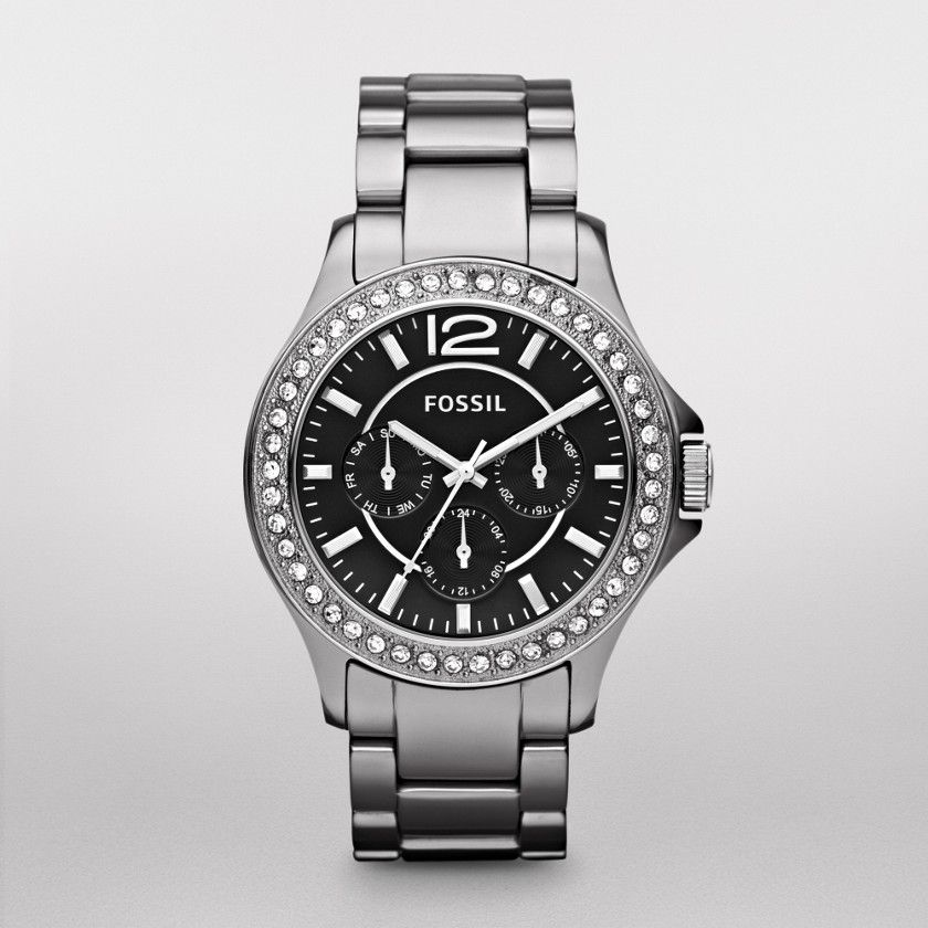 FOSSIL® New Arrivals Watches:Women Riley Ceramic Watch – Chrome CE1067
