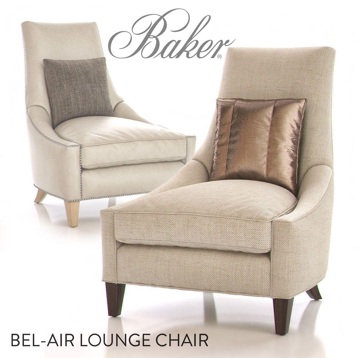 Baker Bel Air Lounge Chair 3D Model MAX   CGTrader.com