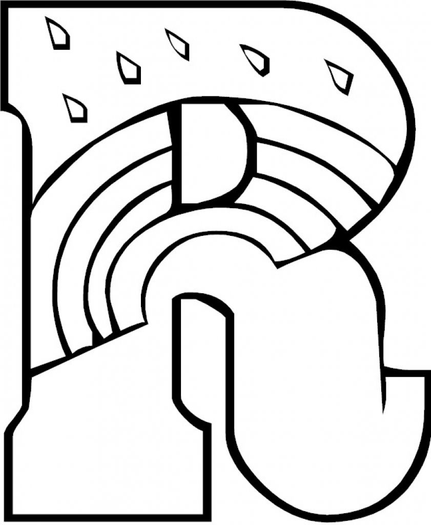 letter r coloring page # 34