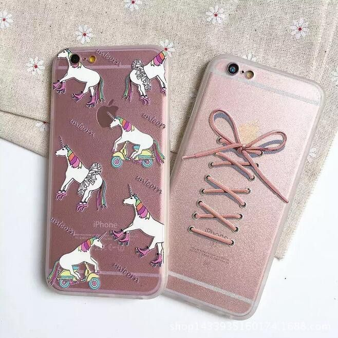 Unicorn and bow phone case for iphone 6 6s 6 plus 6s plus + Nice gift box 080902