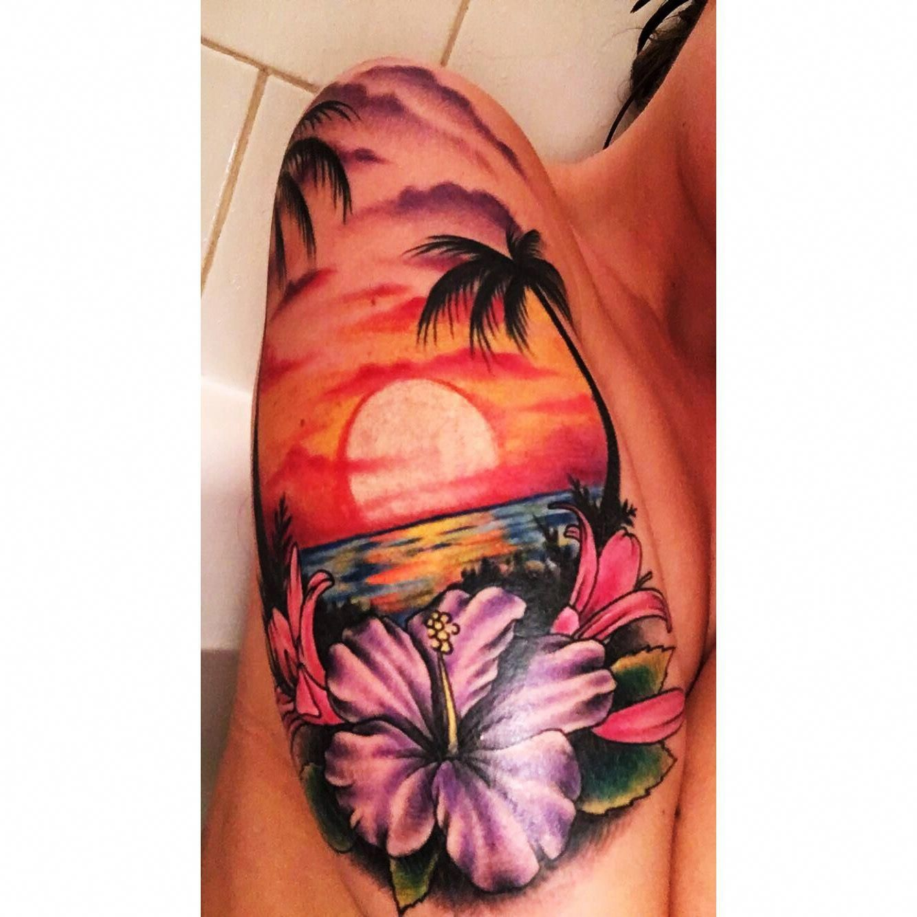 Hawaiian Flower Wrist Tattoo: Hawaii Tattoo Best Tattoo I Have Yet! #Polynesiantattoos