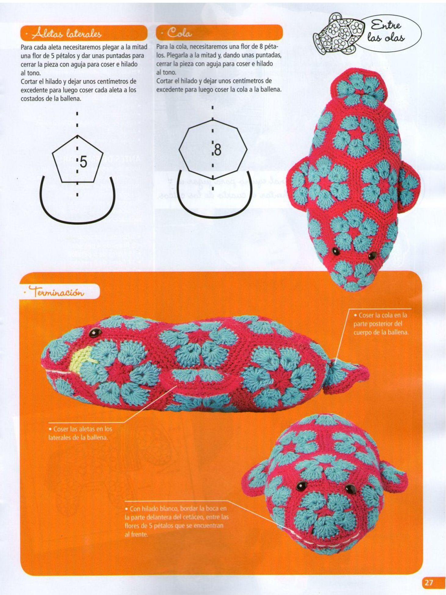 African Flower Whale by Heidi Bears (FREE pattern 4/4) | Amigurumi ...