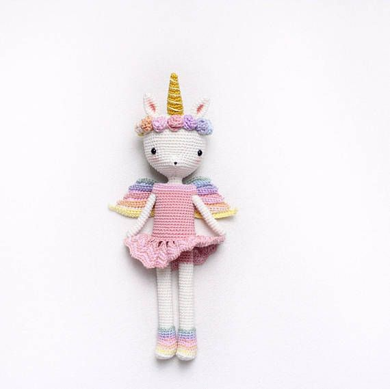 Unicorn Princess Emma - amigurumi doll - English/German/Turkish ...