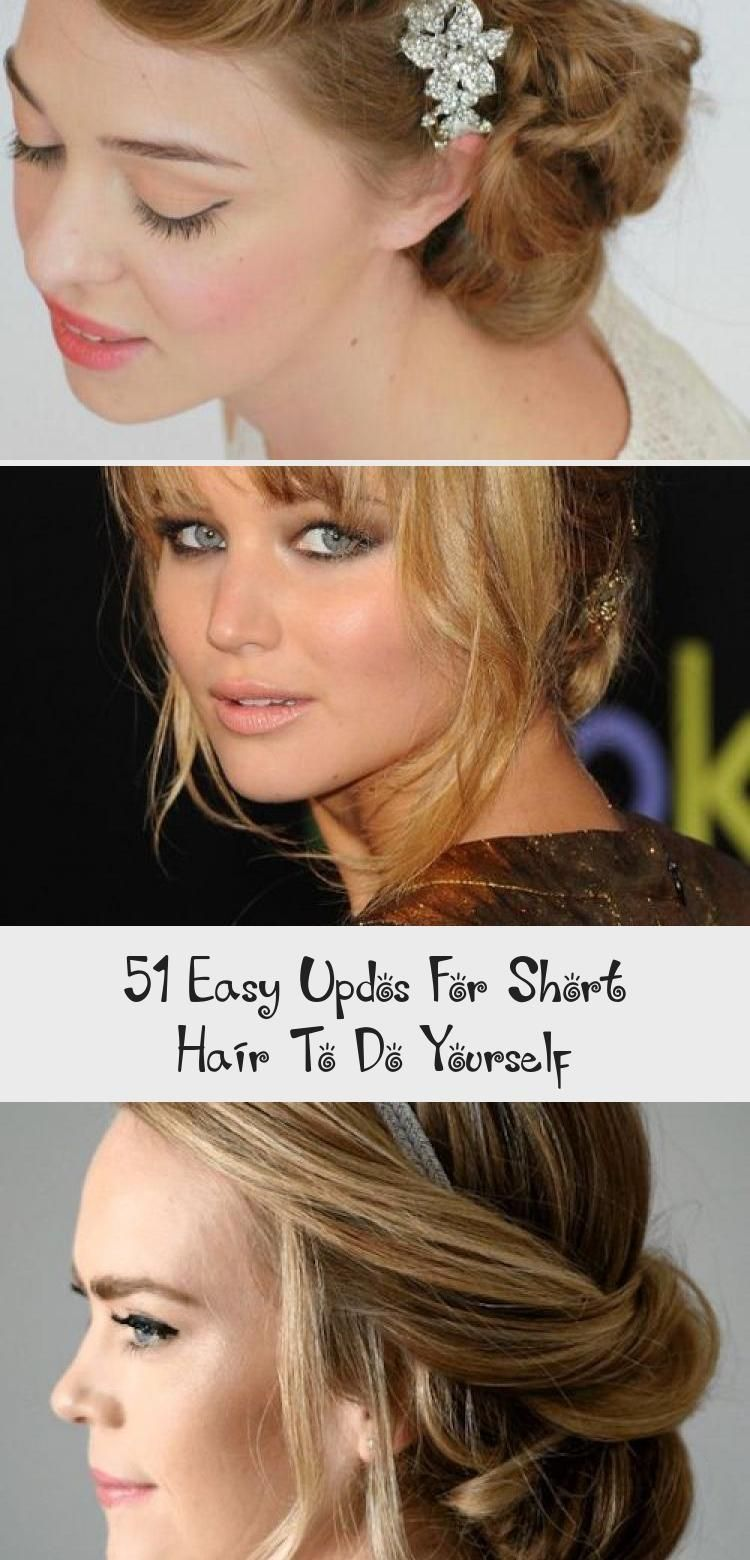 51 Easy Updos For Short Hair To Do Yourself Hairstyle Easy Hair Hairstyle S Easy Hair Hairstyle In 2020 Short Hair Updo Short Hair Styles Vintage Hairstyles