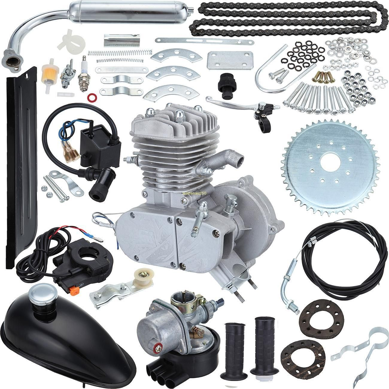 50cc 2-Stroke Gas Motorized Bicycle Kit Bike Petrol Engine Motor Air ...