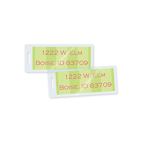 TruLam 5 Mil Small Address Label Laminating Pouches with Slot, 1-3/8