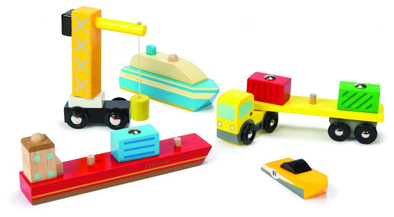 Madera es Puertos Le VanAmazon Juguetes Toy Conjunto De NPnwO0k8X