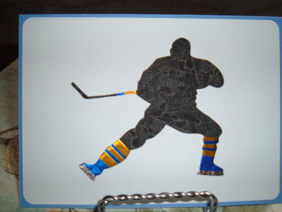 Iris Folding Hockey Player Silhouette Done In By